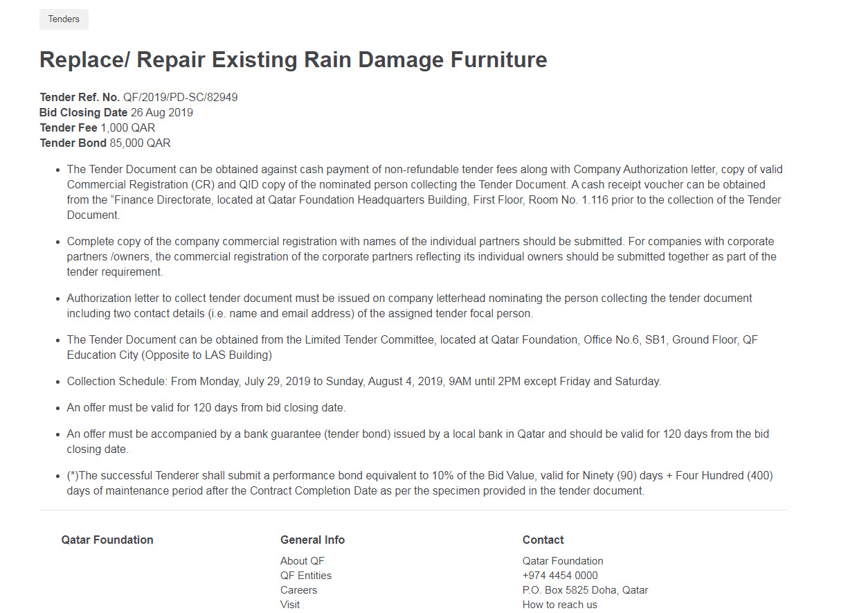 Replace/ Repair Existing Rain Damage Furniture