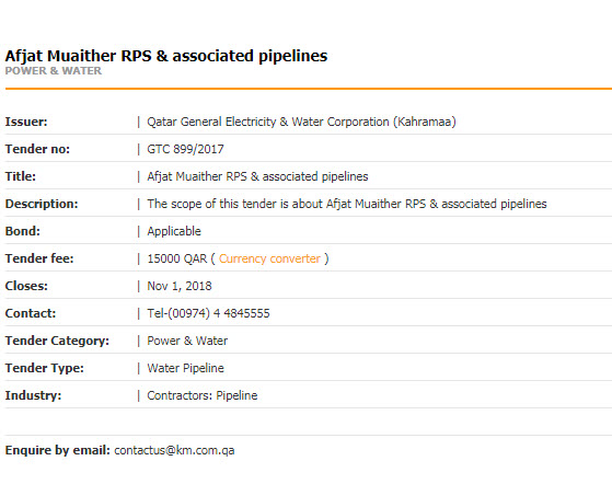 Afjat Muaither RPS & associated pipelines