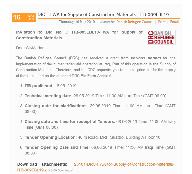Supply of Construction Materials